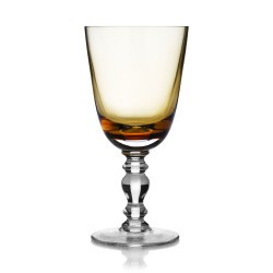 William Yeoward Country Fanny Amber Water Goblet