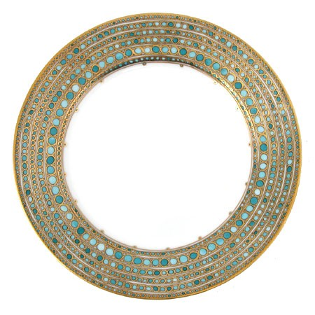 Mottahedeh Syracuse Turquoise Dinner Plate