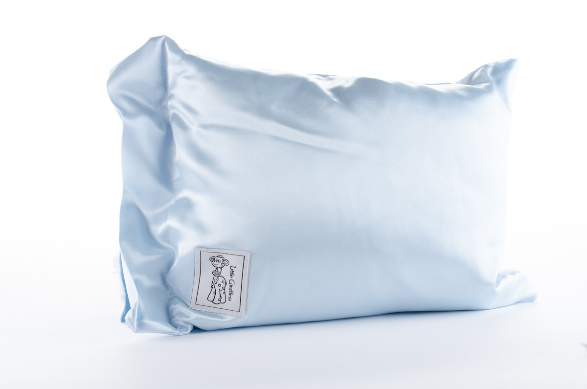 Satin Blue Baby Pillow
