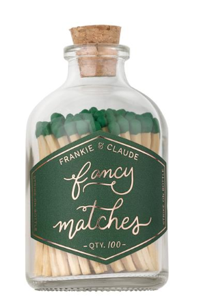 Small Match Jar, Forest Green