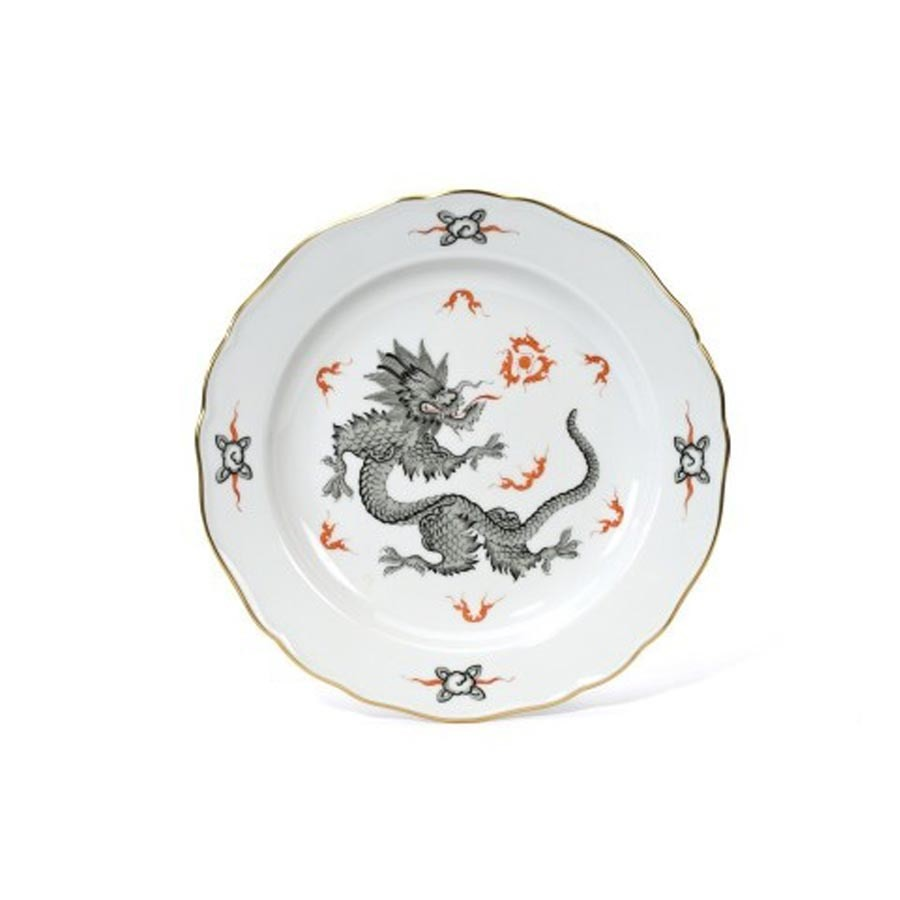 Meissen Ming Dragon Black Salad Plate