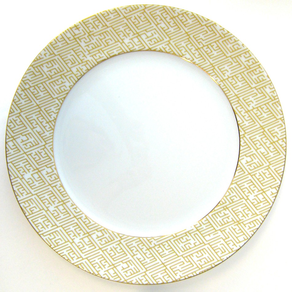 Mottahedeh Labyrinth Gold Service Plate