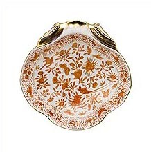 Mottahedeh Sacred Bird and Butterfly Shell Dish