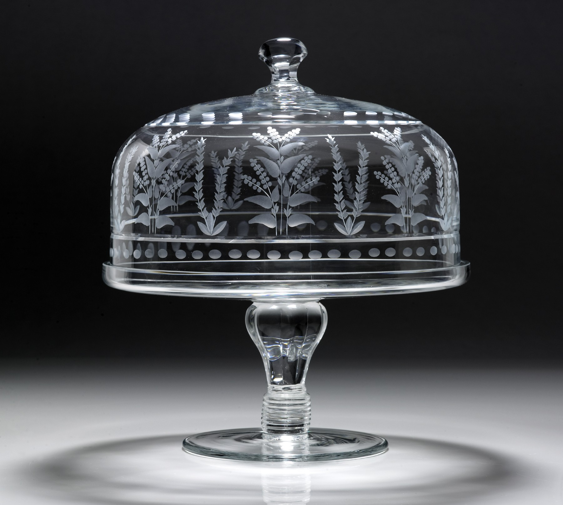 William Yeoward Crystal Portia Cake Stand and Dome
