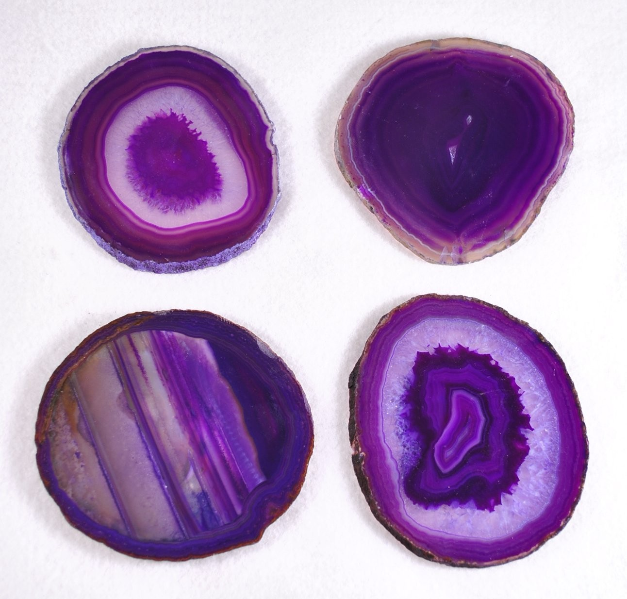 Purple Agate Coaster Set