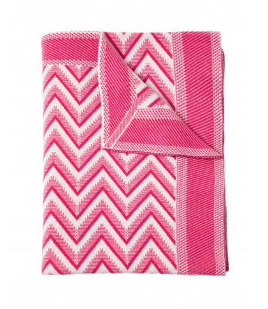 Rani Arabella Dillon Cashmere Throw, Fuchsia
