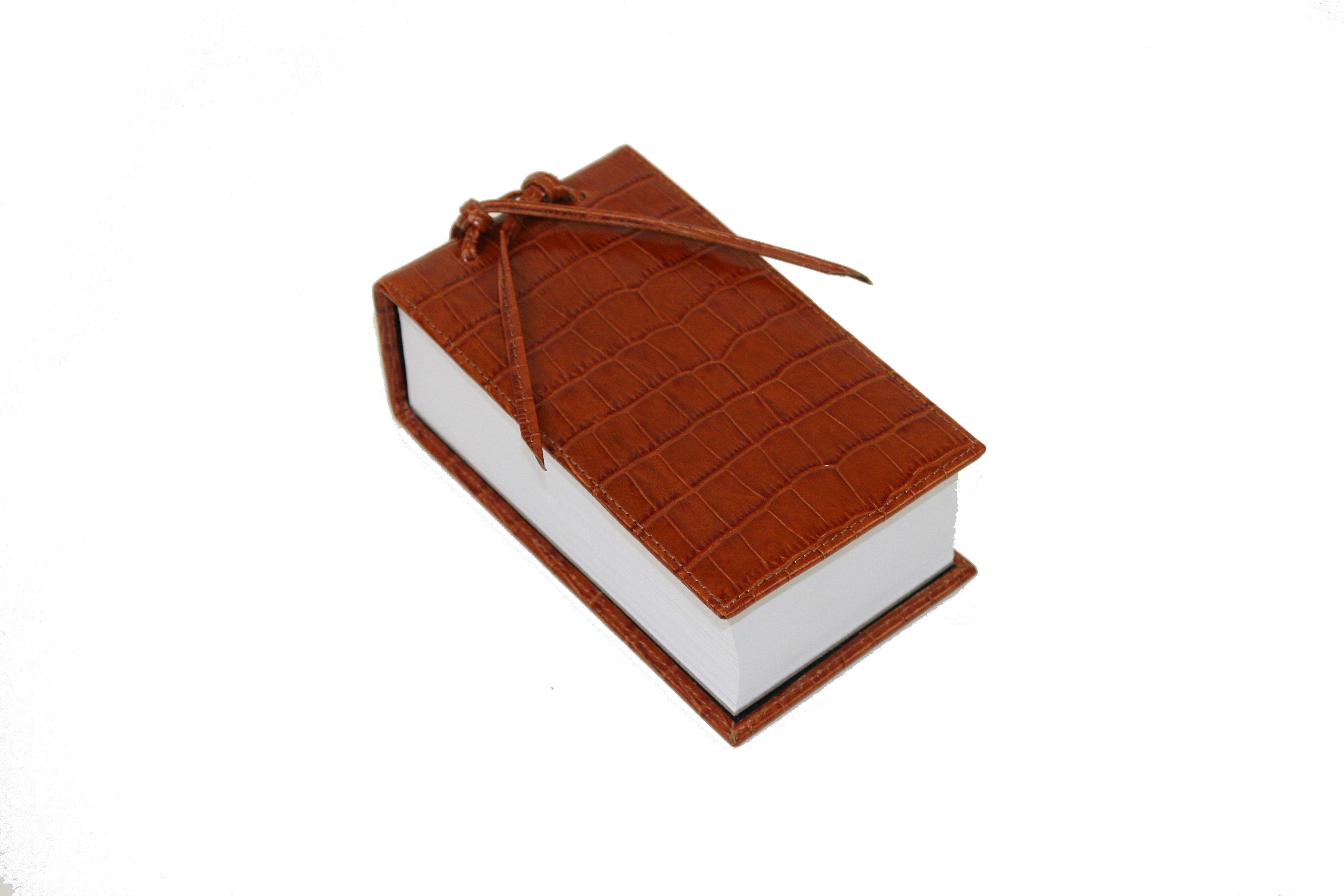 New Sienna Leather Croc Scratch Pad