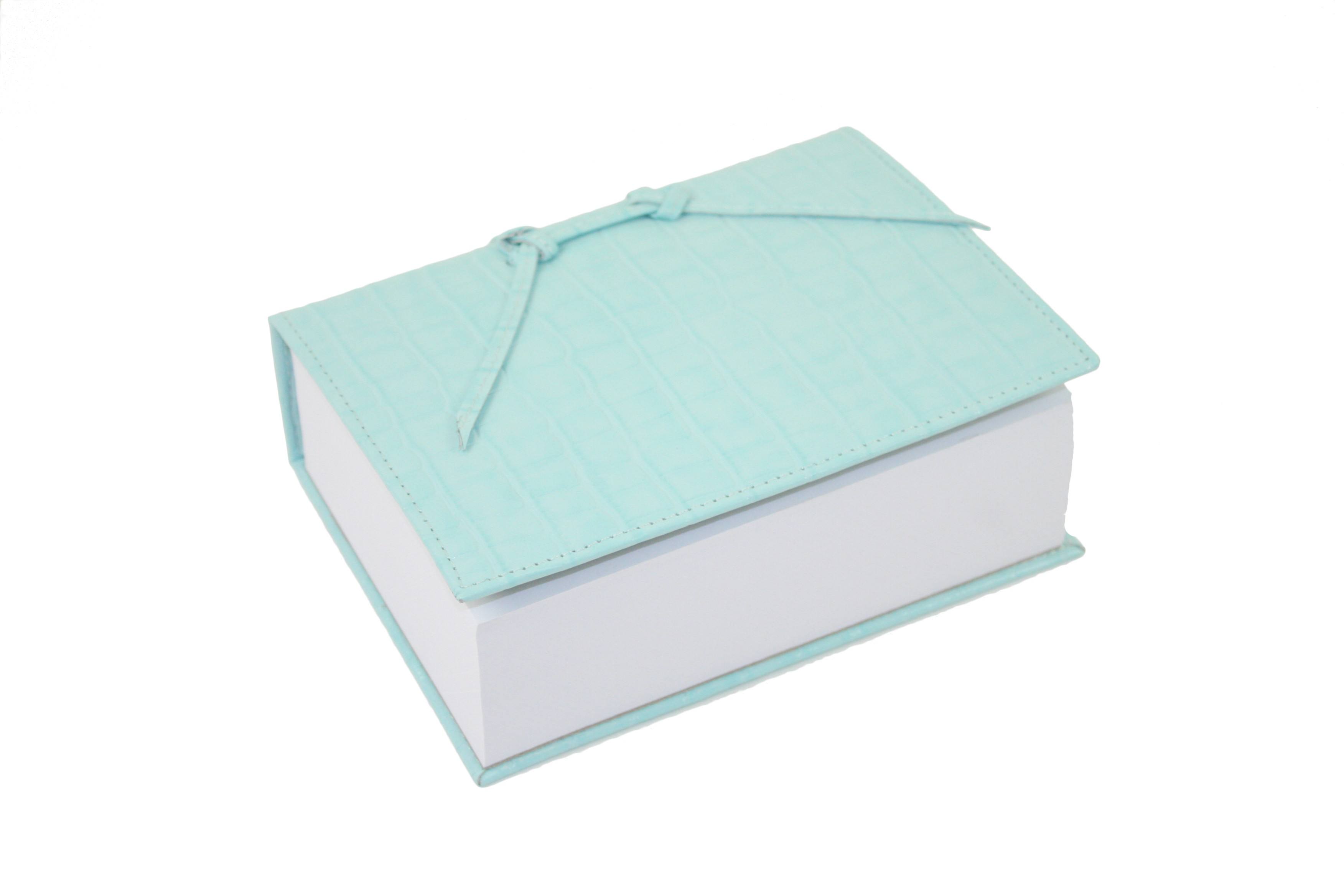 Turquoise Leather Croc Think Pad