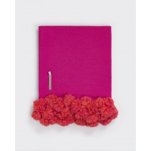 Alicia Adams Dandi Alpaca Throw, Shocking Pink