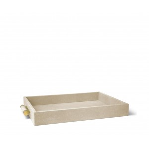 Aerin Shagreen Serving Tray Wheat