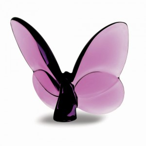 Baccarat Crystal Lucky Purple Butterfly
