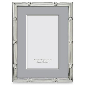 Silver Plated Bamboo Frame, 4x6