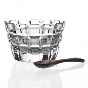 William Yeoward Crystal Blodwyn Salt Dish with Spoon