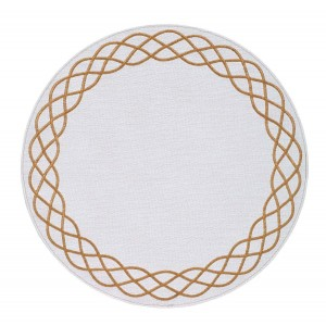Bodrum Round Ivory and Gold Helix Placemats Set/6