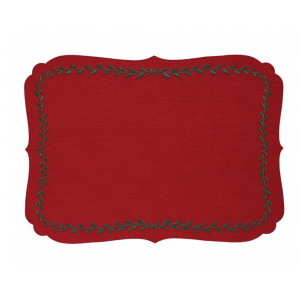 Bodrum Laurel Red Evergreen Placemats
