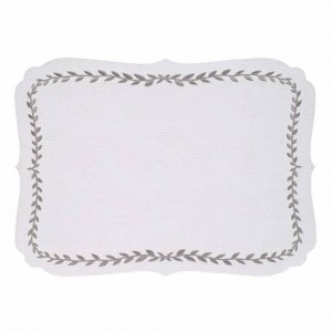 Bodrum Laurel White/Silver Placemats