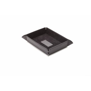 Leather Catch-All Tray, Black