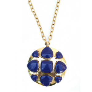Brass and Lapis Bendall Necklace