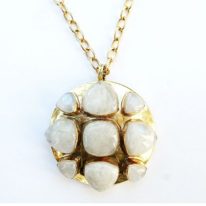Brass and Moonstone Bendall Necklace