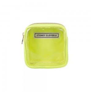 Stoney Clover Mini Clear Pouch, Neon Yellow
