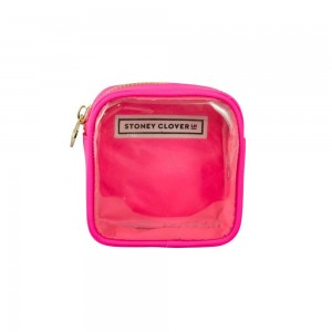 Stoney Clover Mini Clear Pouch, Neon Pink