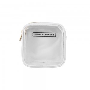 Stoney Clover Mini Clear Pouch, White