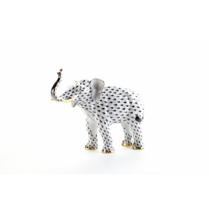 Herend Luck Elephant, Black