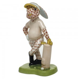 Herend Golf Bunny, Rust