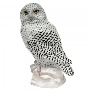 Herend Reserve Collection Snowy Owl Figurine