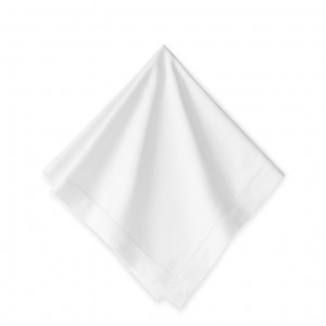 White Linen Hemstitch Dinner Napkins Dozen