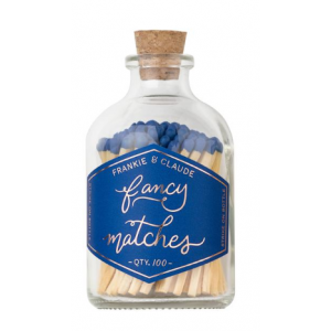 Small Match Jar, Royal Blue