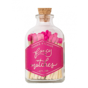 Small Match Jar, Hot Pink