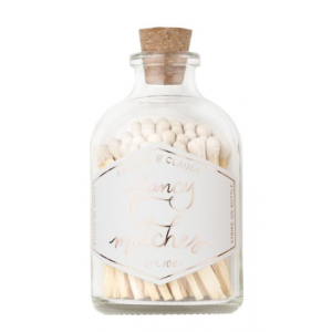 Small Match Jar, White
