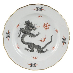 Meissen Ming Dragon Black Dinner Plate