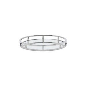 Round Mirrored Tray, Large