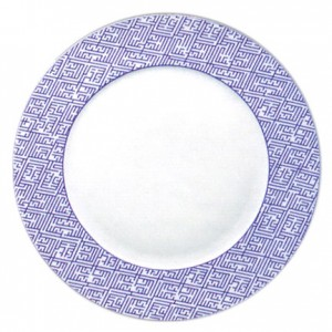 Mottahedeh Labyrinth Purple Service Plate