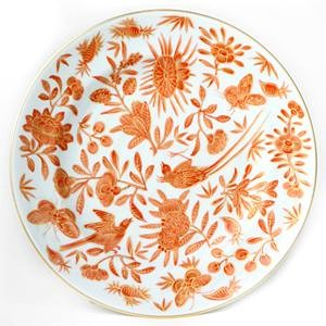 Mottahedeh Sacred Bird and Butterfly Salad Plate