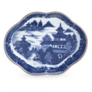 Mottahedeh Blue Canton Lobed Dish