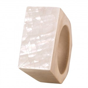 Cracked Mother of Pearl Napkin Rings