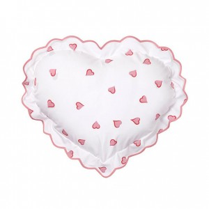 D'Porthault Heart-Shaped Pillow, Pink Heart