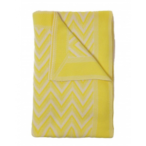 Rani Arabella Dillon Cashmere Throw, Neon Yellow