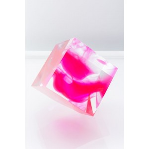 Sawyer Collection Pink Infused Tilted Cube