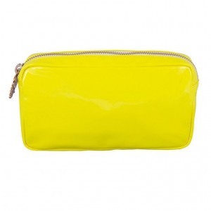 Stoney Clover Small Pouch, Neon Yellow Patent