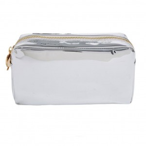 Stoney Clover Small Pouch, Silver Patent