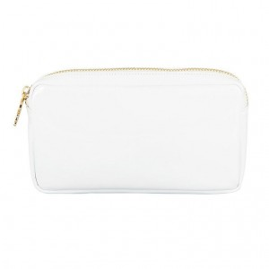 Stoney Clover Small Pouch, White Patent