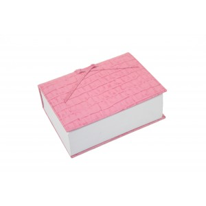 Pink Leather Croc Think Pad