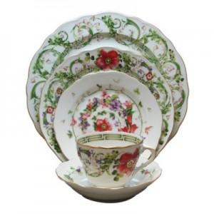 Versace Flower Fantasy Dinner Plate